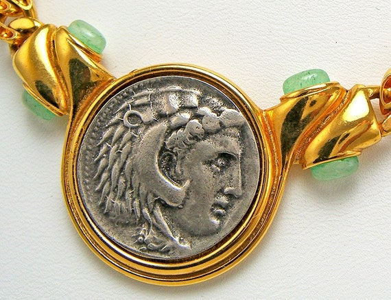 Neo Classical Coin Portrait Necklace - 1970