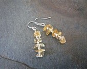 Earrings - citrine gemstone -sterling silver - handmade by Martha Mary Jewelry on Etsy