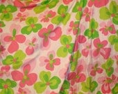 Pop Flowers SWIMSUIT  Pink and Green Lycra Stretch Jersey
