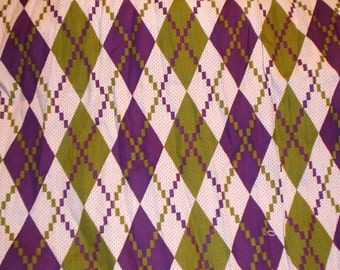 Funky Argyle Print Fabric Final Piece Halloween Fall LittlePinkTrailer