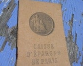 Caisse d'epargne de Paris vintage1937 bank notebook ephemera