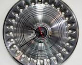 Plymouth Hubcap Clock - 1973 - 1974 Plymouth Barracuda Road Runner Wall Clock - Mopar Muscle Car Clock