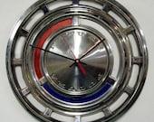 1962 - 1963 Ford Falcon Futura Hubcap Clock - Wall Clock - Retro Car Hub Cap Clock