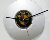 Recycled BMW Hubcap Clock - Upcycled Car Wall Clock - Hub Cap Decor