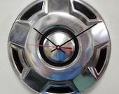 Ford Truck Clock - 1960 - 1989 Pickup Bronco Hubcap  - 1961 1962 1963 1964 1965 1966 1967 1968 1969 1970 1971 1972 1973 1974 1975 1976 1977