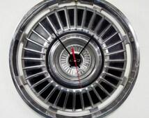 1964 Chevrolet Chevelle Hub Cap Clock - Chevy Bowtie