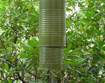 Recycled Windchime - Can Wind Chimes - Car Crazy Series - Nash Green