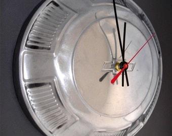1968 - 1972 Chevrolet Chevelle Hubcap Clock - Chevy Classic Car Wall Clock - Man Cave Decor - 1969 1970 1971