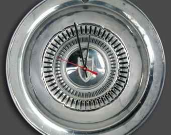 1954 1955 Lincoln Hubcap Wall Clock - 1950's Classic Car Decor
