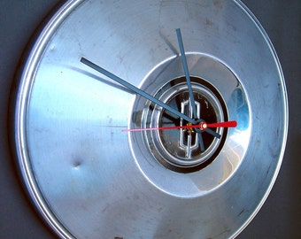 1960's Oldsmobile Hubcap Clock - Olds Classic Car Wall Clock