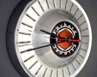 1954 - 1956 Packard Clipper Wall Clock - 1950's Classic Car Hubcap Clock - 1955