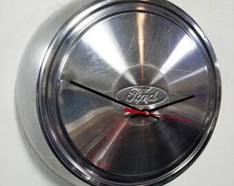 1987 - 2004 Ford Pickup Truck Hubcap Clock - Van Hub Cap - 1988 1989 1990 1991 1992 1993 1994 1995 1996 1997 1998 1999 2000 2001 2002 2003