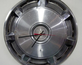 1973 - 1977 Chevy Monte Carlo Wall Clock - 1974 1975 1976 Chevrolet Hubcap Clock - Classic Car Clock - Man Cave Decor - Automotive Art