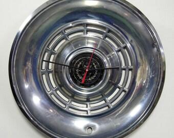 1977 Mercury Cougar Hubcap Clock - Vintage Car Clock - Retro Wall Decor - Dad Gift - Mens Gift - Car Part Clock