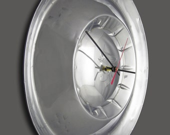 Retro Wall Clock made from 1954 Mercury Monterey Hubcap