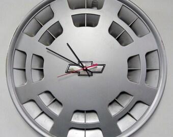 1991 1992 Chevrolet Caprice Impala SS Wall Clock - Chevy Car Hubcap Clock