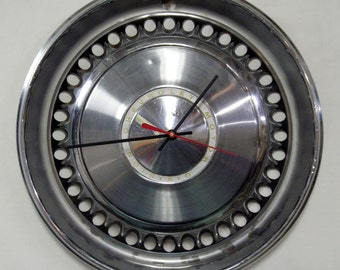 Chevrolet Wall Clock - 1968 - 1970 Chevy Impala and Nova Hubcap - 1969