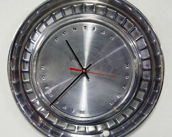 1960 Pontiac Wall Clock - Catalina Bonneville Star Chief Hub Cap