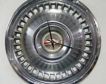 Chevrolet Wall Clock - 1971 1972 Chevy Impala Hubcap Clock - Industrial Decor