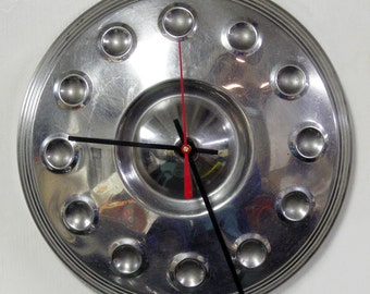 1961 Plymouth Valiant Hubcap Wall Clock