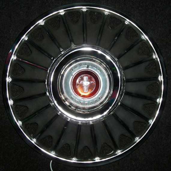 Hanging Lamp - 1967 Ford Mustang Hubcap Lighting - Wall Sconce Lighting