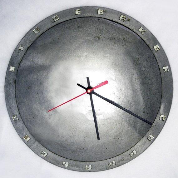 1951  - 1952 Studebaker Commander Hubcap Wall Clock - Retro 50's Car Clock