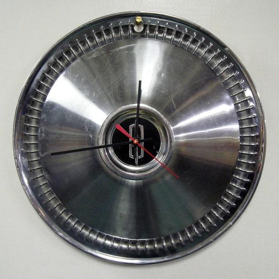 1966 Oldsmobile Hubcap Wall Clock - Olds 4-4-2, Cutlass, F-85