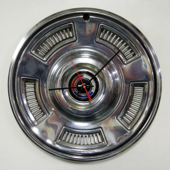 1967 Chevrolet Chevelle Hubcap Clock - Chevy Hub Cap Wall Clock
