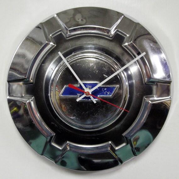 Chevy Truck Wall Clock 1969 - 1974 Chevrolet Pickup Truck Hubcap Clock - 1970 1971 1972 1973