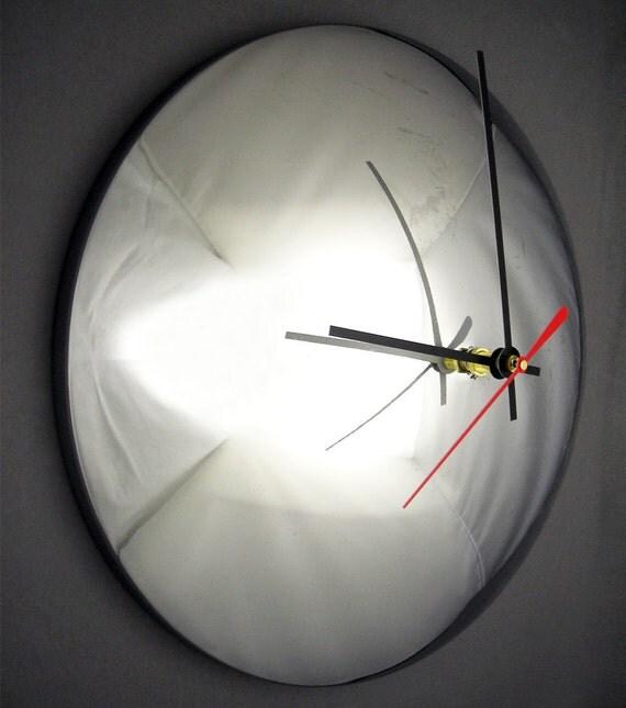 Chrome Baby Moon Hubcap Wall Clock - SALE