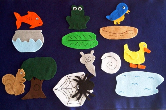 Teaching Resource Animal Homes Matching Flannel Board Felt Story Set/Felt Stories/Storytelling/Literacy/Teacher Supplies/Teaching