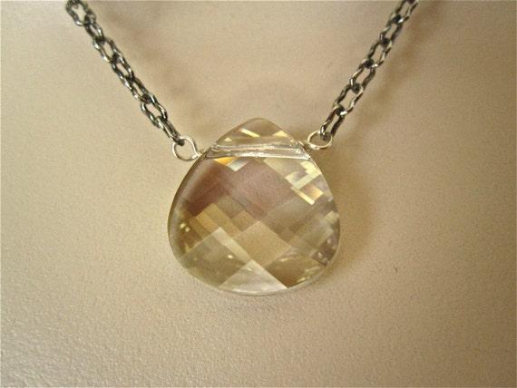 Swarovski Biolette Silver Pendant Necklace - Large Pendant