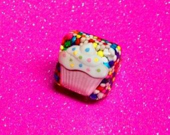 Sprinkle Cupcake Ring (Adjustable)