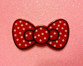 Red Polka Dot Hairbow