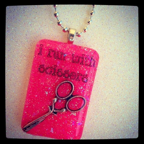 I Run With Scissors Necklace