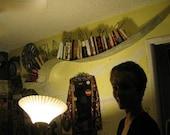 Curvy wall bookshelf