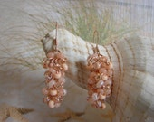 Chainmail Peach Seed Bead Earrings