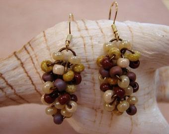Chainmail Seed Bead Earrings