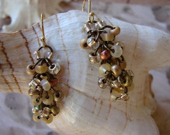 Chainmail Seed Bead Earrings by Donia's N2Beadz