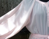 HOLD Vintage Pretty in Pink floaty frock lovely pale dress