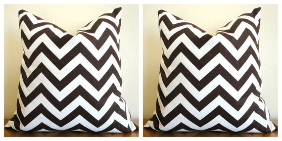 "Pillow Cover-PAIR 18"" x 18"" Brown and Natural"