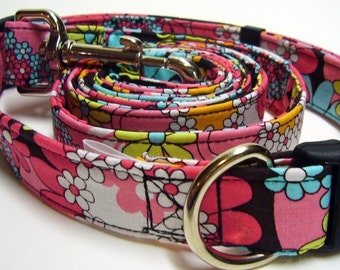 Doodlebug Dud's Collar and  Leash Combo - Your Color Choice