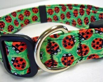 Doodlebug Dud's Green Ladybug Collar