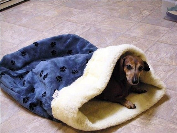 Doodlebug Dud's Sleeping Bag For That Pet That Loves To Burrow - Size small (under 12 pounds)