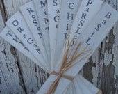 Handmade Chippy Herb Markers...set of 8...Treasury Item