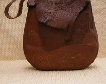 Beautiful large brown soft leather bag