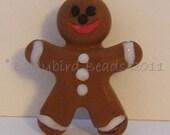 Christmas Gingerbread Man Brooch