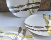 Vintage Festive Dinner Plates by Blue Ridge Pottery
