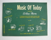 Vintage 1950s Music Of Today Student Piano Song Book Arranged by Wilma Moore