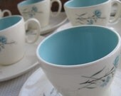 Reserved Vintage Buttons and Beaux Harmony House Cups and Saucers